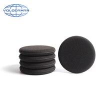 Восковая губка Volodymyr, черная, диаметром 13 см, восковая прокладка для очистки автомобиля, быстрое отделение для деталей, детали для очистки автомобиля, автомойки, уход за авто