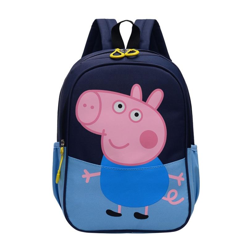 Bolsa de Peppa Pig, mochila George, mochila de lona portátil de hombro para niños, mochila de dibujos animados, regalo para niños, chica, película de Anime de juguete circundante 2020