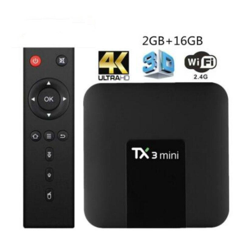 TX3 البسيطة مربع التلفزيون الذكية 1GB/8GB 2GB/16GB Tx3 البسيطة الروبوت الروبوت 8.1 أحدث النسخة Amlogic S905W يصل إلى 2.0 GHz TX3mini التلفزيون مربع