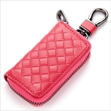 PU Leather Keychain Men/Women Key Holder Organizer Pouch Split Car Key Bag Wallet Housekeeper Key Ca