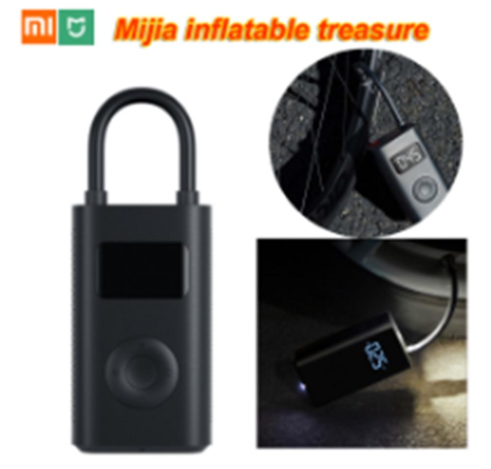 Xiaomi Mijia, compresor de monitoreo Digital de tesoros hinchables, neumático portátil con batería integrada, boquilla múltiple para bicicleta doméstica inteligente