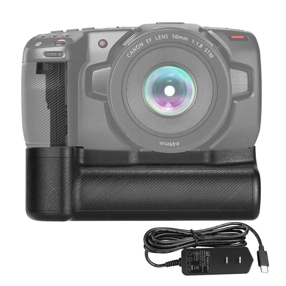 Neewer hm battery grip compatível com blackmagic pocket cinema câmera 6k 4k com tipo-c adaptador usb, só funciona com LP-E6/e6n