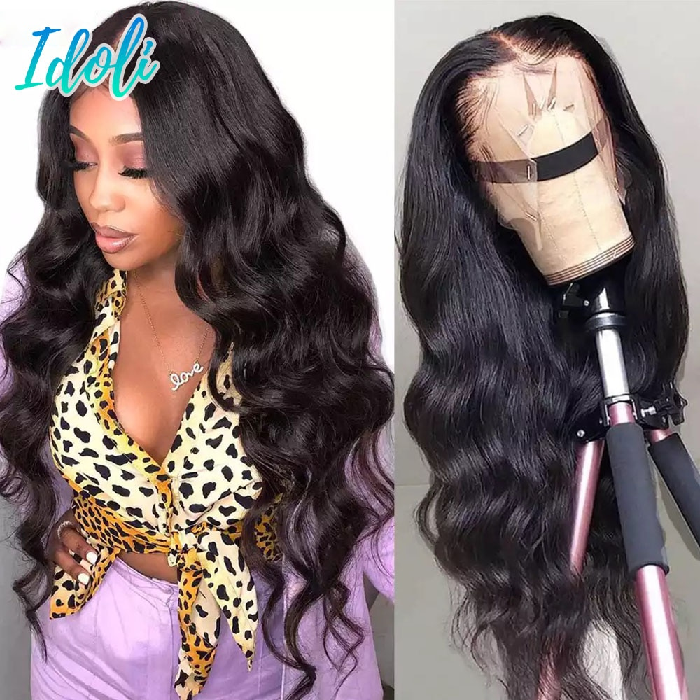 Lace Front Wigs Human Hair Pre Plucked Body Wave 13x4 Lace Frontal Wig with Baby Hair 100% Human Hair Wigs for Black Women 180%