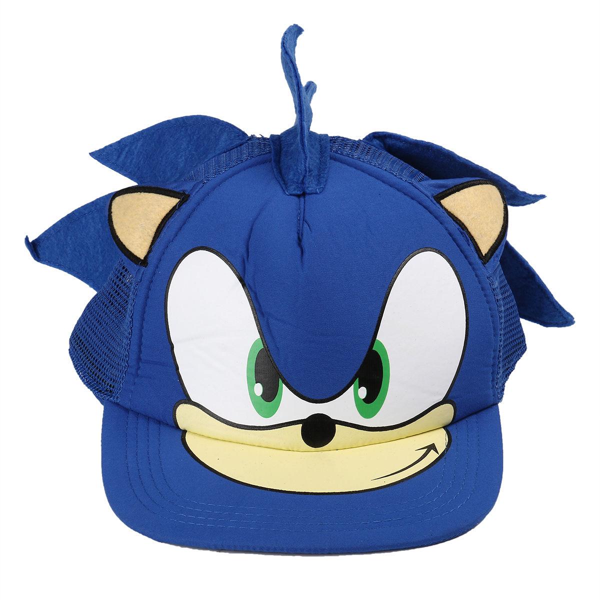 Blue Hats Sonic Hiphop Cosplay Snapback Flat Cartoon Cap Fashion Adjustable Baseball Hat