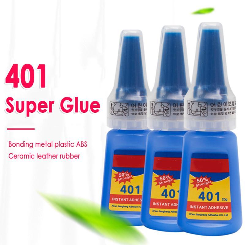 Multi propósito 401 Super fuerte pegamento líquido productos de madera juguetes de plástico teléfono caso adhesivo escuela oficina accesorios 35g