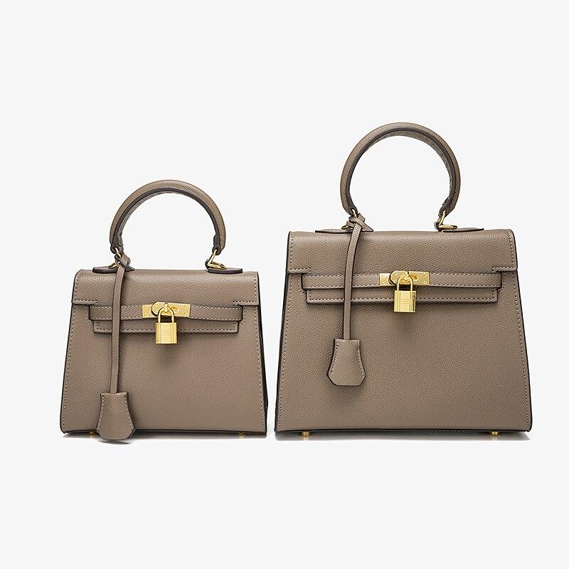 حقيبة يد نسائية مربعة جديدة من هاوسون حقيبة يد نسائية فاخرة مصممة من الجلد حقيبة كروس بكتف للسيدات