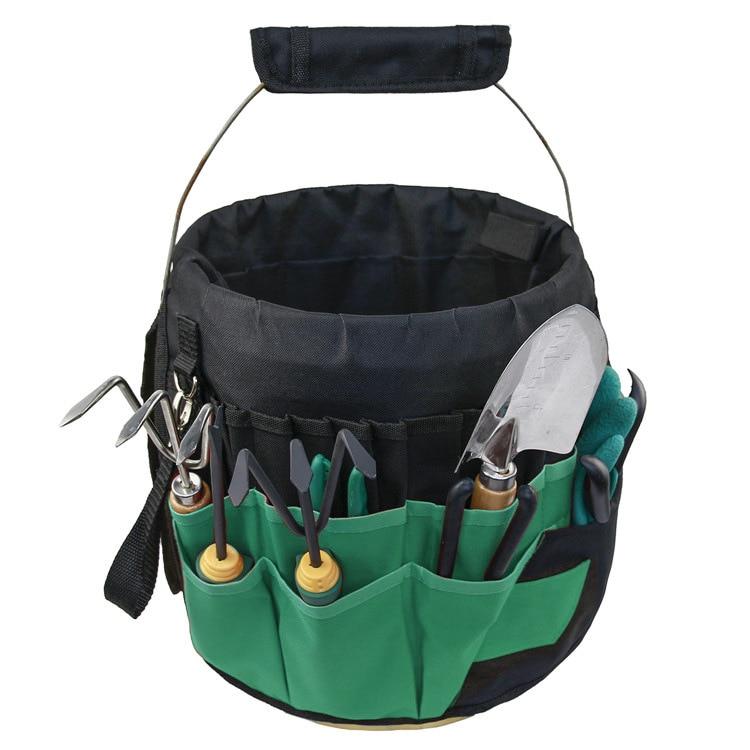 1 قطعة حقيبة متعددة الوظائف الأخضر متعدد جيب أكسفورد القماش مجموعة أدوات المطرقة ويرا حديقة اليد وظيفة الأجهزة الثقيلة تخزين المنزل
