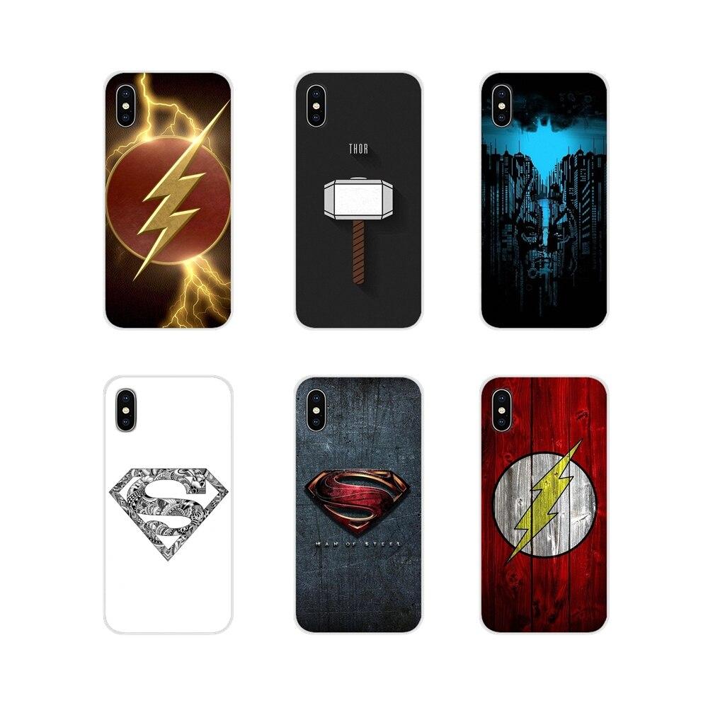 Hombre de Acero Logo Superman TPU transparente casos para Huawei G7 G8 P7 P8 P9 P10 P20 P30 Lite Mini Pro P Smart Plus 2017 de 2018 a 2019