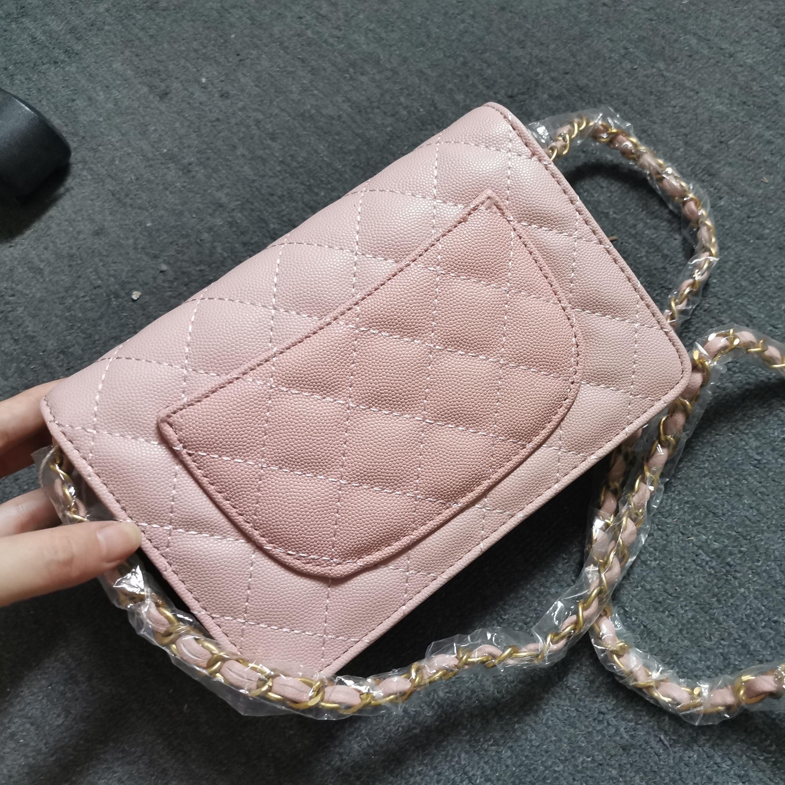 الكلاسيكية الكافيار السيدات حقيبة يد عالية الجودة مصمم فاخر محفظة الوجه سلسلة حقيبة كتف حقيبة ساعي صغيرة 2021