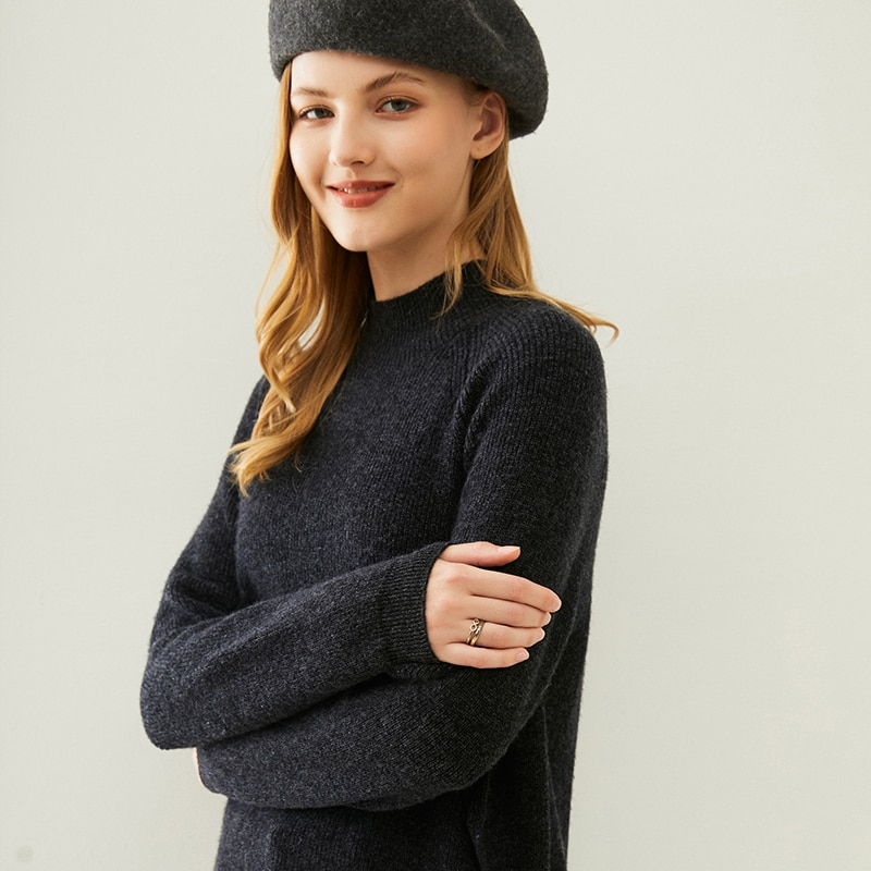 adishree 2021 woman winter 100% Cashmere sweaters autumn knitted Pullovers High Quality Warm Female thickening Turtleneck enlarge