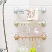 Support de crochet ajustable à Double ventouse   Porte-serviettes, support de crochet suspendu, Type de verrouillage, ventouse accessoires de salle de bains 1 pièce