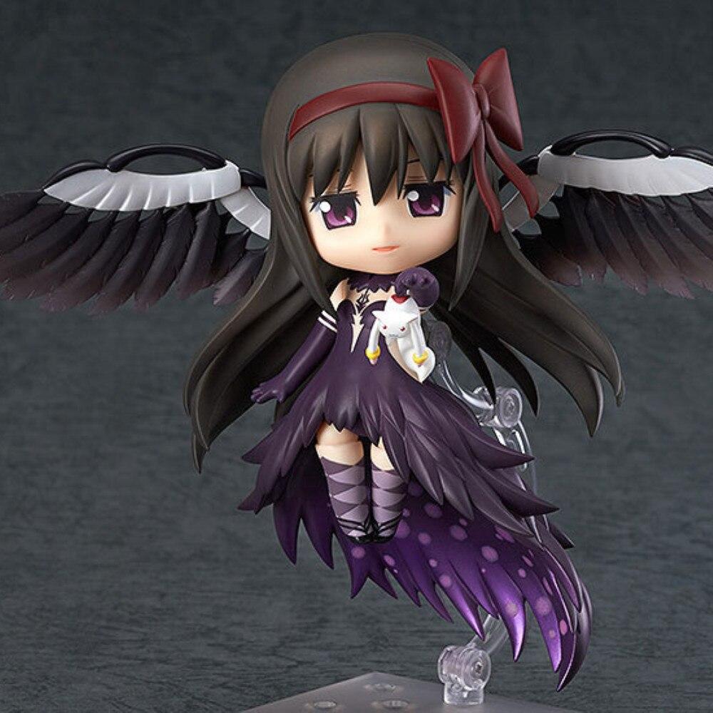 Puella magi madoka magica akemi homura #456 menina anime figuras brinquedos coleção bonito brinquedo ação estatueta modelo diabo homura