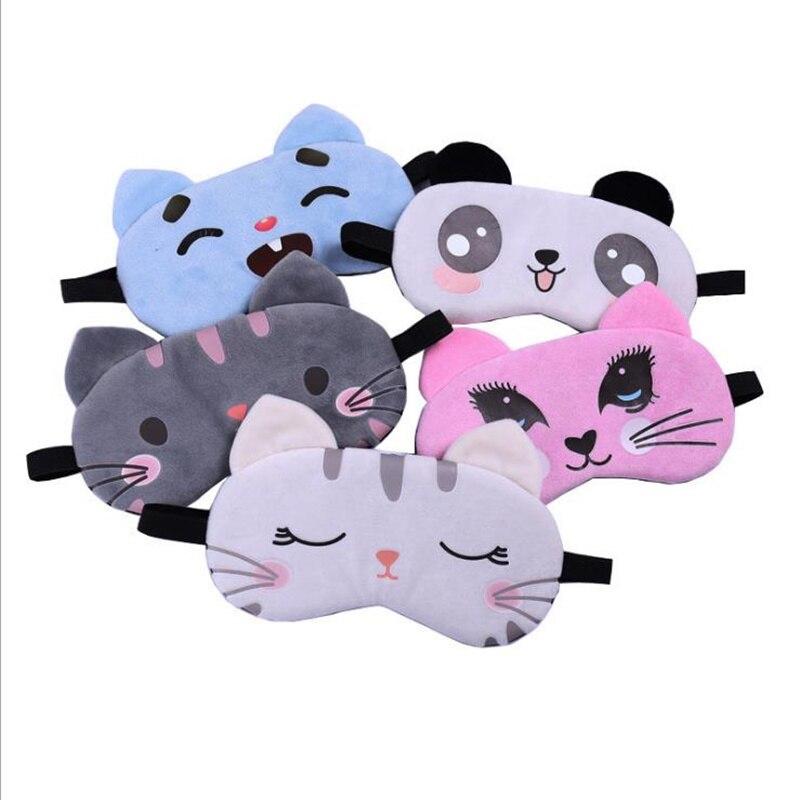 1 Pcs New  Cartoon Animal Cute Travel Aid Sleeping Mask Shade PortableTravel Relax Gift Arrival Hot Sell