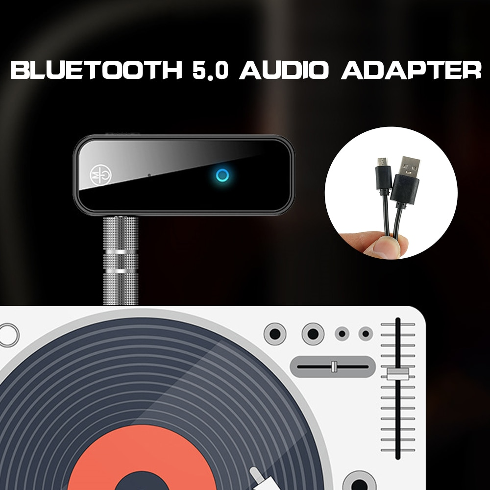 AUX Jack Audio Wireless Adapter Bluetooth Receiver 5.0 3.5mm for Car PC Headphones Mic 3.5 Bluetooth 5.0 Receptor enlarge