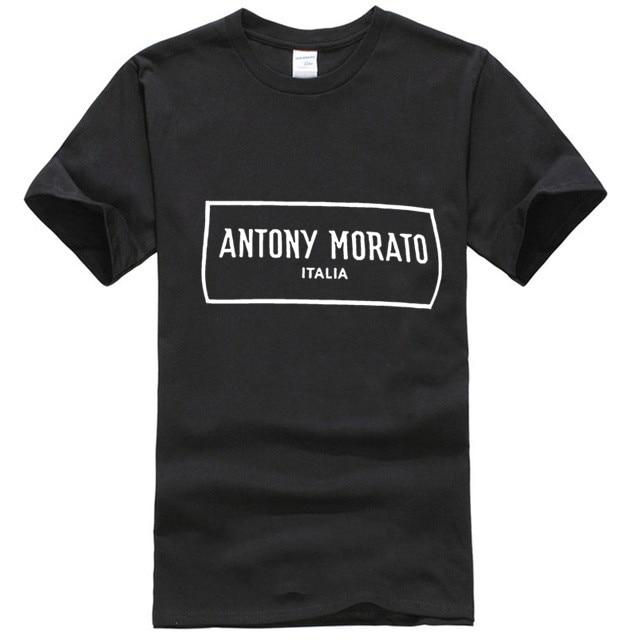 Camisa preta rrp do logotipo da caixa de antony morato am dos homens