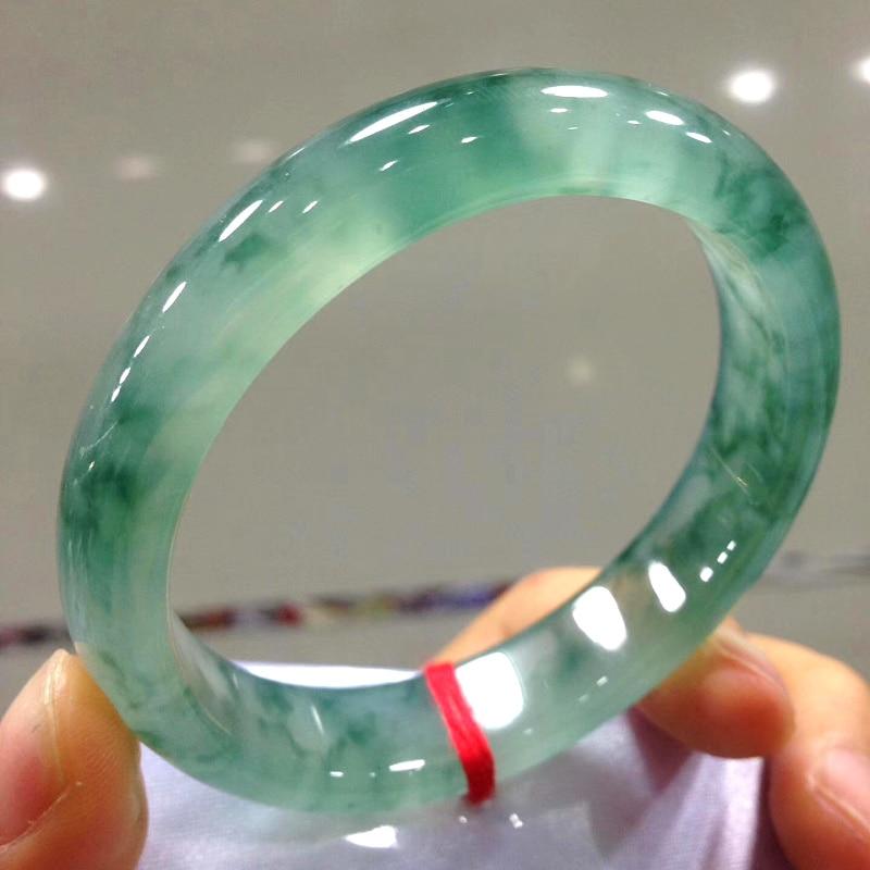 Promo Natural Myanmar A green jade bangles handcarved jadeite jade bracelet real jade bracelets jade jewelry women bangle
