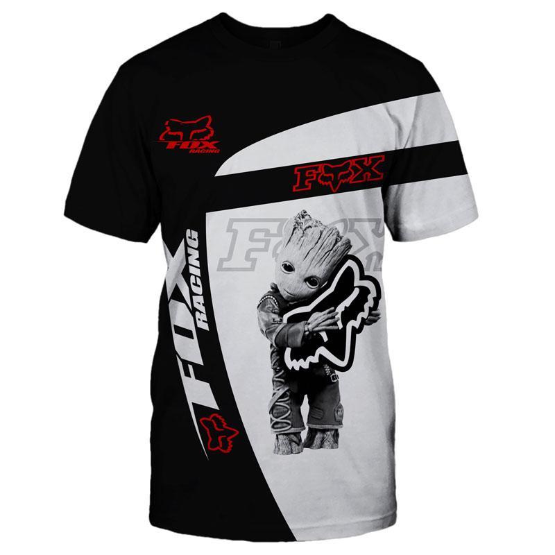FOX RACING-Camiseta con estampado 3D para hombre y mujer de camiseta de...