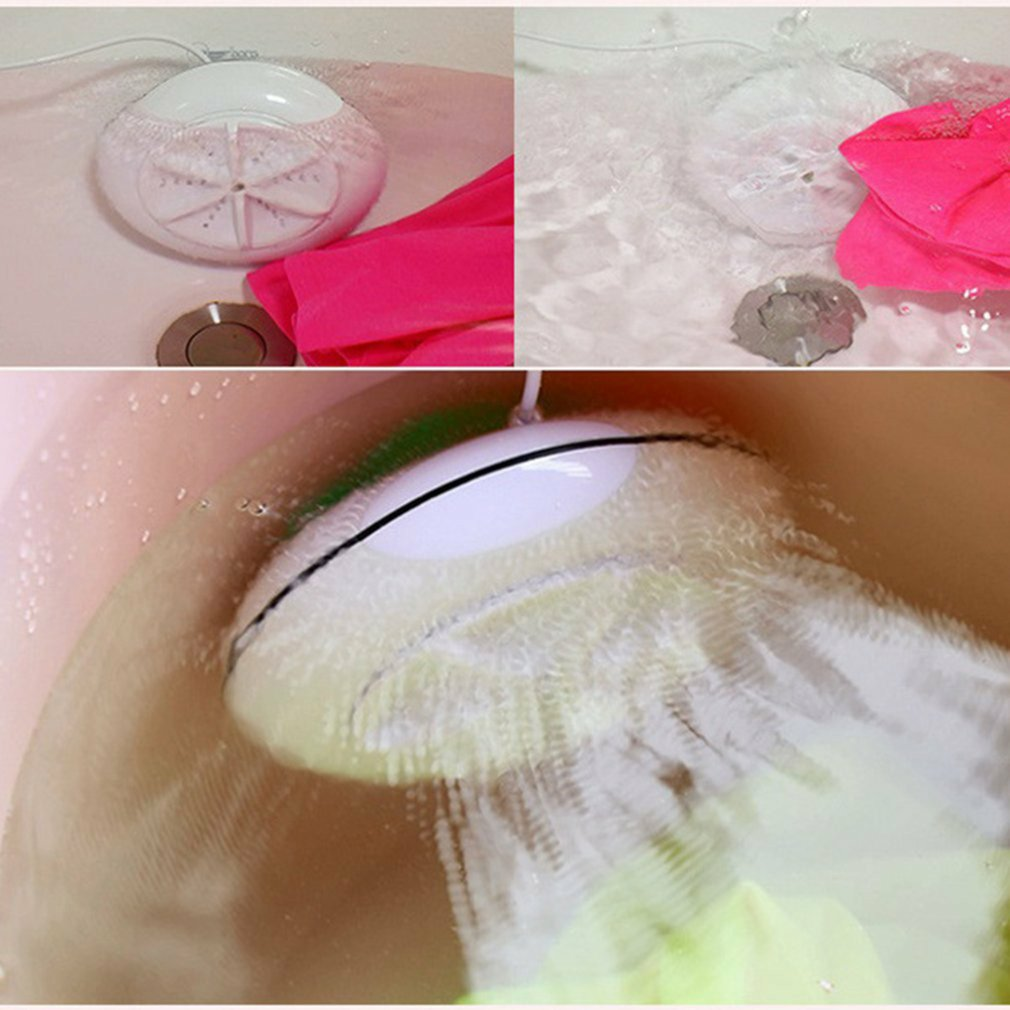 2 in 1 Portable Mini Washing Machine Ultrasonic Washer with USB Cable Convenient for Travel Business Trip enlarge
