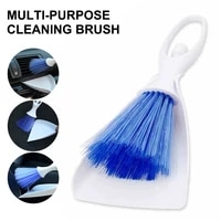 car air conditioner brush air vent angel brush dustpan set air outlet cleaning brush set car detailing keyboard dust cleaner