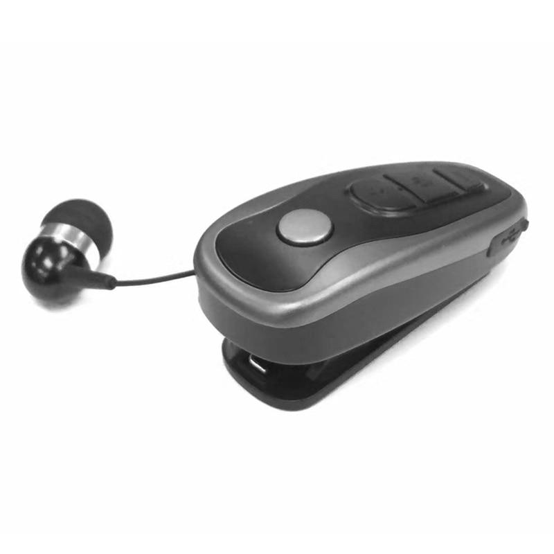 Q7-auricular, inalámbrico por Bluetooth 4,1, auriculares estéreo intrauditivos retráctiles con Clip y cable para cuello de negocios
