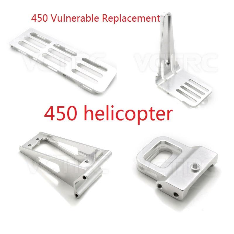 Peças vulneráveis do metal 450 rc da substituição para o helicóptero de trex 450