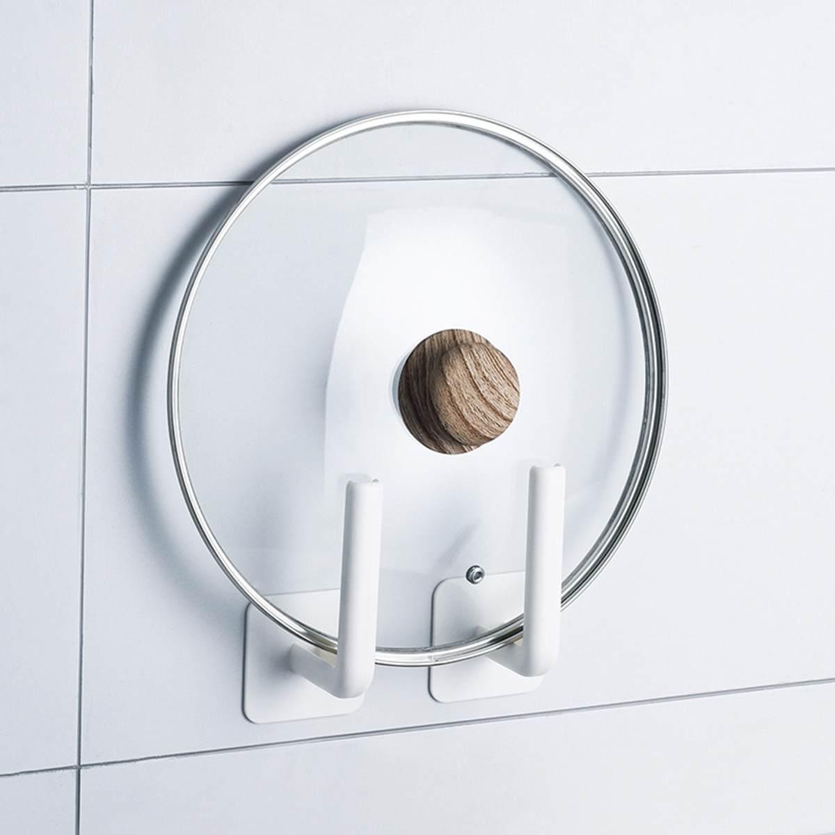 2 pçs gancho de parede vara gancho pendurado toalha tampa titular cozinha banheiro organizador armazenamento