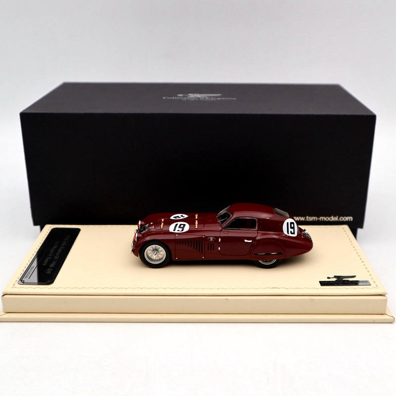 TSM 1:43 1938 Alfa Romeo 8C 2900 #19 Le Mans 24 Hours TSMCE164301 Resin Auto Models Limited Edition Collection Toys Car