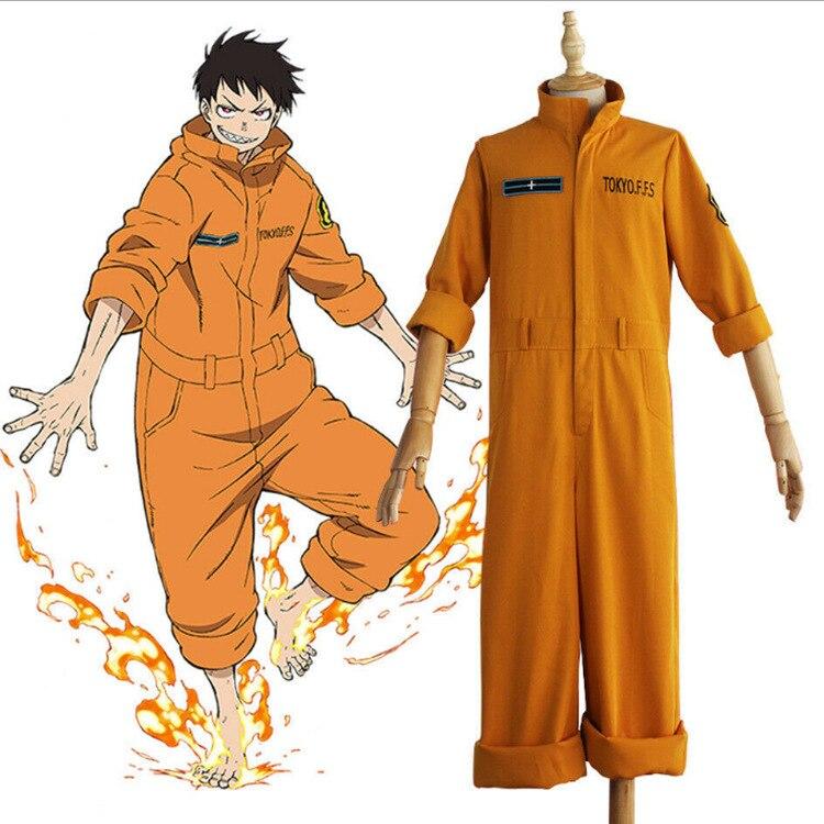 Adulte unisexe Force de feu Tamaki Kotatsu combinaison Enen no Shouboutai Halloween Cosplay Costume Kusakabe Takehisa Anime uniforme