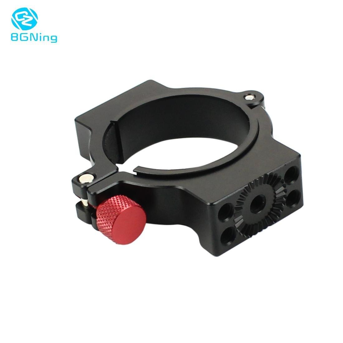 Bgning 1/4 parafuso anel de expansão extensão microfone led vídeo luz montagem clipe adaptador para zhiyun guindaste 2 cardan estabilizador