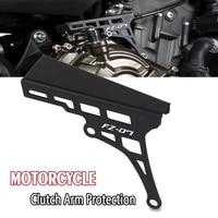 motorcycle aluminum clutch arm extension device protection fz07 logo for yamaha fz 07 fz 07 2013 2021 2020 2019 2018 2017 2016
