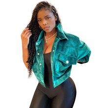 Echoine Women Casual corduroy jacket female neon green autumn coats ladies long sleeve plus size overalls streetwear clothing