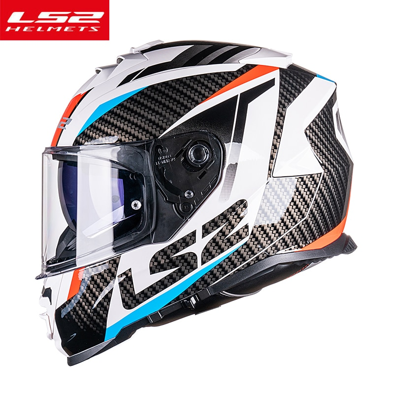 AliExpress - LS2 FF800 STORM Full Face KPA Shell Motorcycle Helmet With Double Lens Man Woman Casco moto Without Anti-fog Patch capacete moto