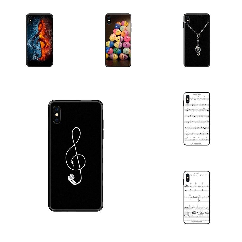 Per Xiaomi Redmi Note 4 5 5A 6 7 8 8T 9 9S Pro Max Collection violino musica nota musicale nero morbido TPU Live Love Phone