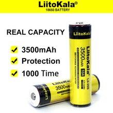 8-40 pièces Liitokala Lii-35S protégé 18650 3400mAh Rechargeable li-lon batterie avec 2MOS PCB 3.7V pour lampe de poche