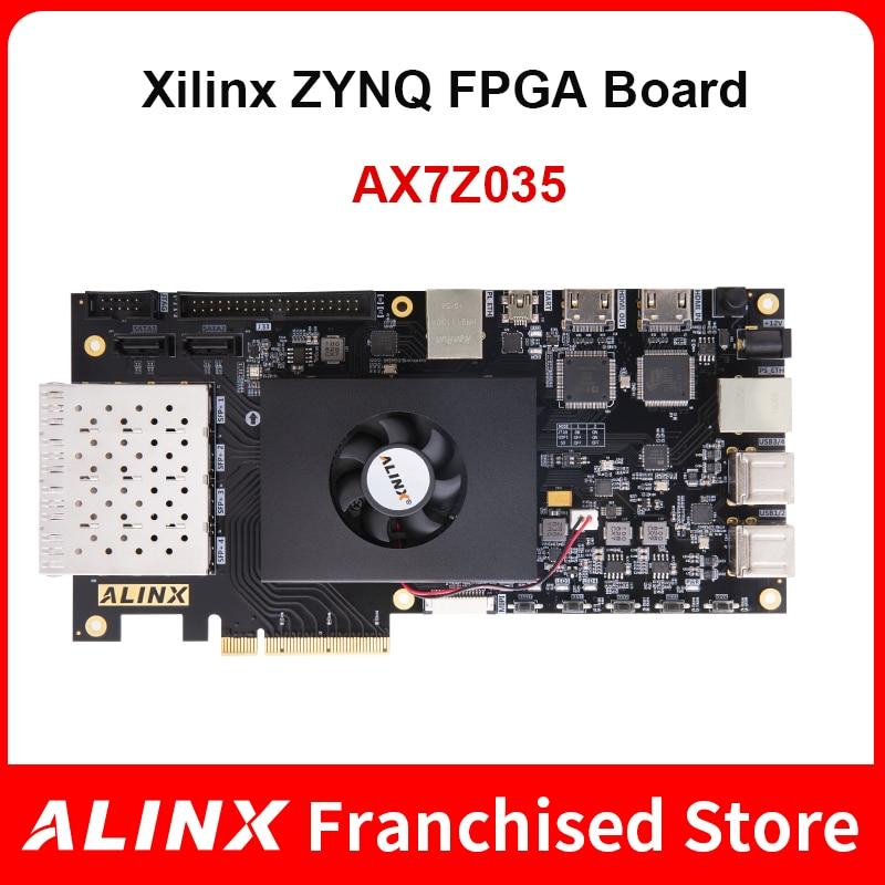 ALINX AX7Z035: XILINX Zynq-7000 SoC XC7Z035 ZYNQ ARM 7035 FPGA Development Board SoMs PCIE Accelerator Card SFP 8G eMMC