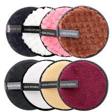 Almohadillas de algodón reutilizables para quitar el maquillaje toallitas de microfibra esponja de remoción almohadillas de limpieza herramienta