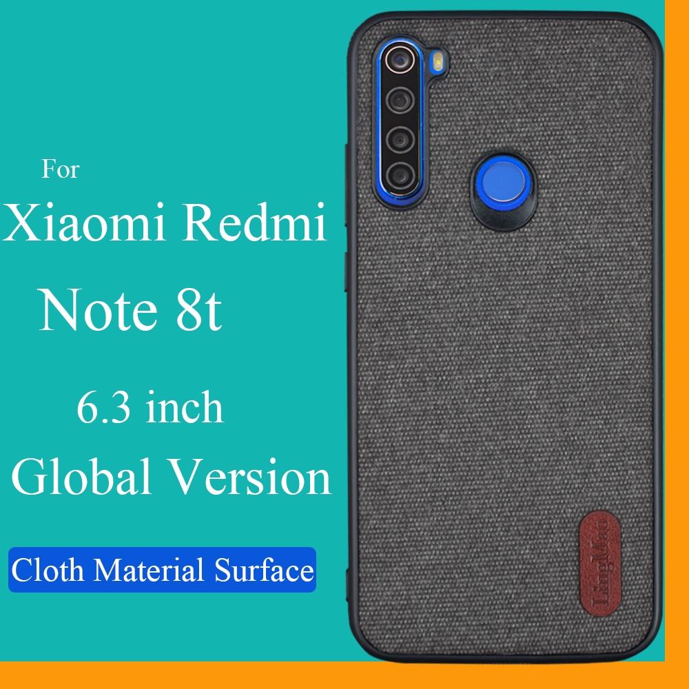 Para xiaomi redmi note 8t funda Lingmao de silicona suave tela de borde trasero funda de teléfono redmi note 8t versión global funda TPU soporte