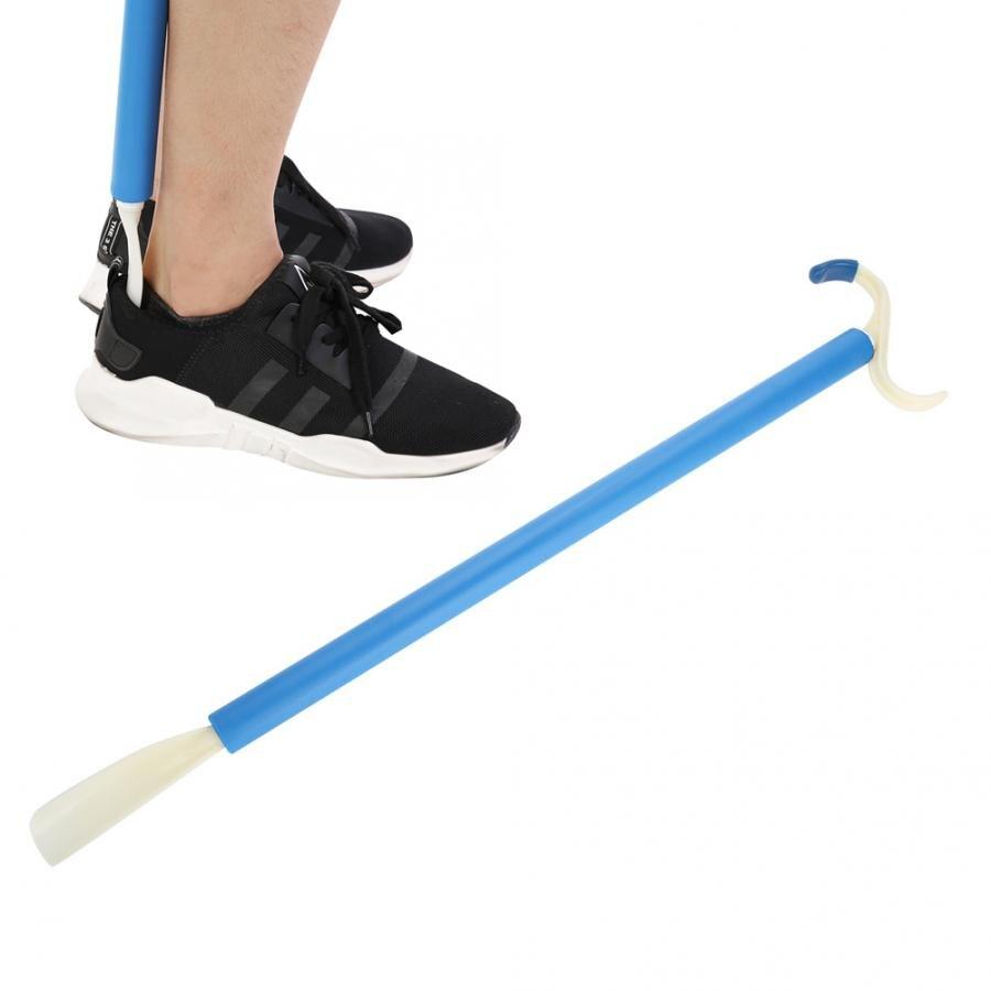 Mobilidade deficiência sapato roupas vestir aid fácil colocar em fora longa alça vara para pacientes idosos grávidas massagem