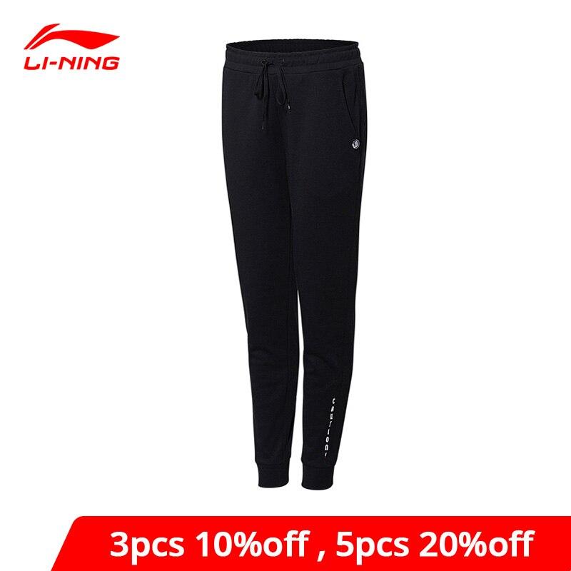Женские баскетбольные спортивные штаны Li-Ning, 88% хлопок, 12% полиэстер, подкладка, li ning, AKLN002 WKY153