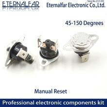 KSD301 KSD303 10A 45 65 125 150 Degrés Celsius Réarmement Manuel Thermostat Normalement Fermé Température Interrupteur de Contrôle De La Température
