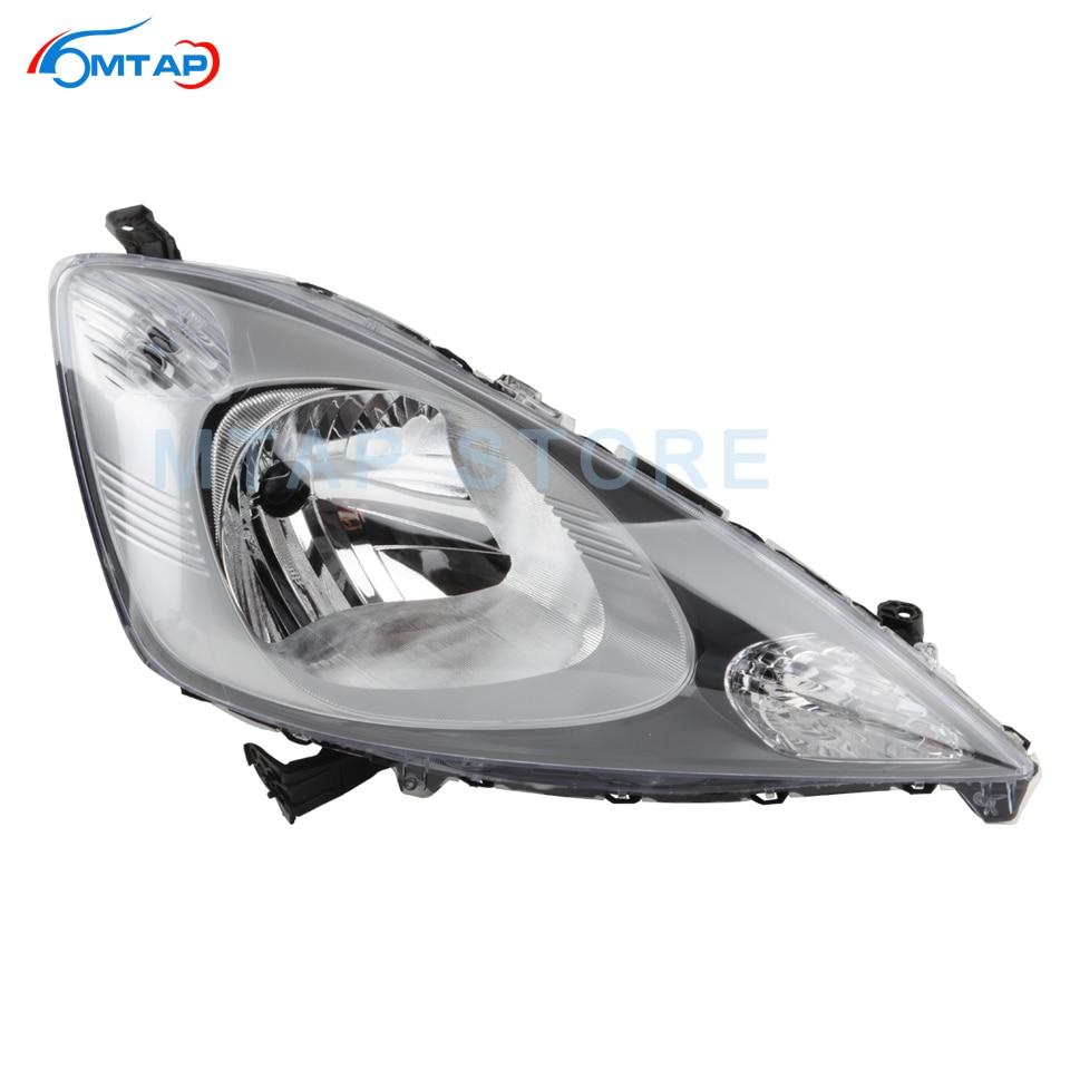 MTAP Car Head Light Head Lamp Assy For Hodan Jazz Fit GE6 GE8 2009 2010 2011 Halogen Front Bumper Headlamp Headlamp