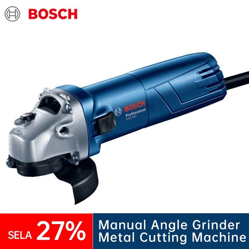 Угловая шлифовальная машина Bosch GWS660 для резки и полировки металла, ручные мельницы древесины