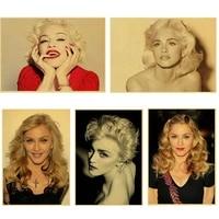 WTQ     toile de peinture une piece retro  affiche Madonna ciccone  decor mural  tableau dart mural pour decoration de salon  decoration de maison