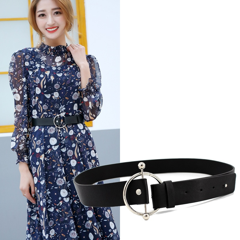 Diseñador nuevo de moda para mujer, cinturones de pantalones Botón Ajustable, cinturón decorativo, cinturón ancho de ocio para mujer holográfico
