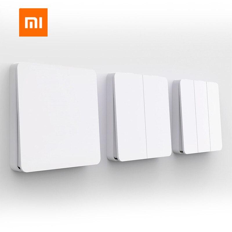 Xiaomi Mijia interrupteur Intelligent interrupteur mural simple/Double ouvert Double interrupteur de commande 2 Modes interrupteur de lampes intelligentes