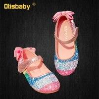 jelly sandals summer 2021 baby girl shining rainbow princess kids dress up sandals for children flat shoes childrens flats