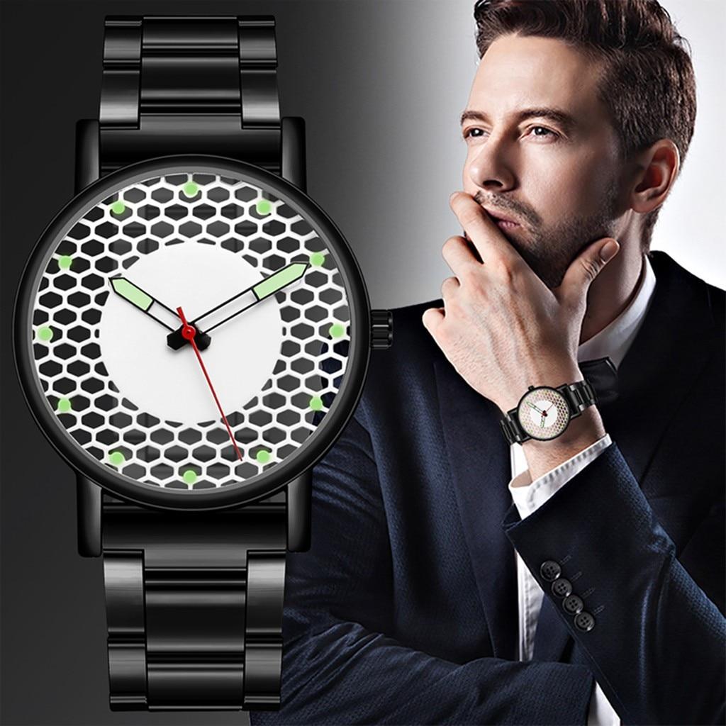 Fashion Neutral Quartz Analog Wristwatch Steel Band Watch Luxury Leather Wrist Watch Man Clock Fashi