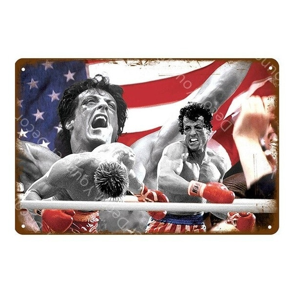 Classic Movie Poster Film Star Rocky Shining Elvis Pulp Fiction Club Wall Decor Tin Signs Vintage Metal Plaque YI-060