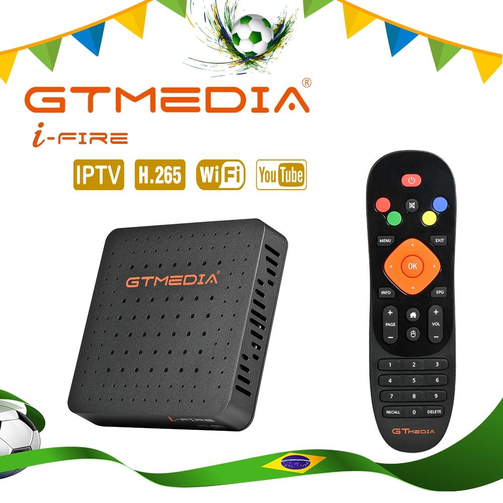 New Arrival GTmedia IFIRE TV Box HDR STB BOX Brazil Support Xtream IPTV Stalker IPTV Youtube Set top Box Media Player Internet