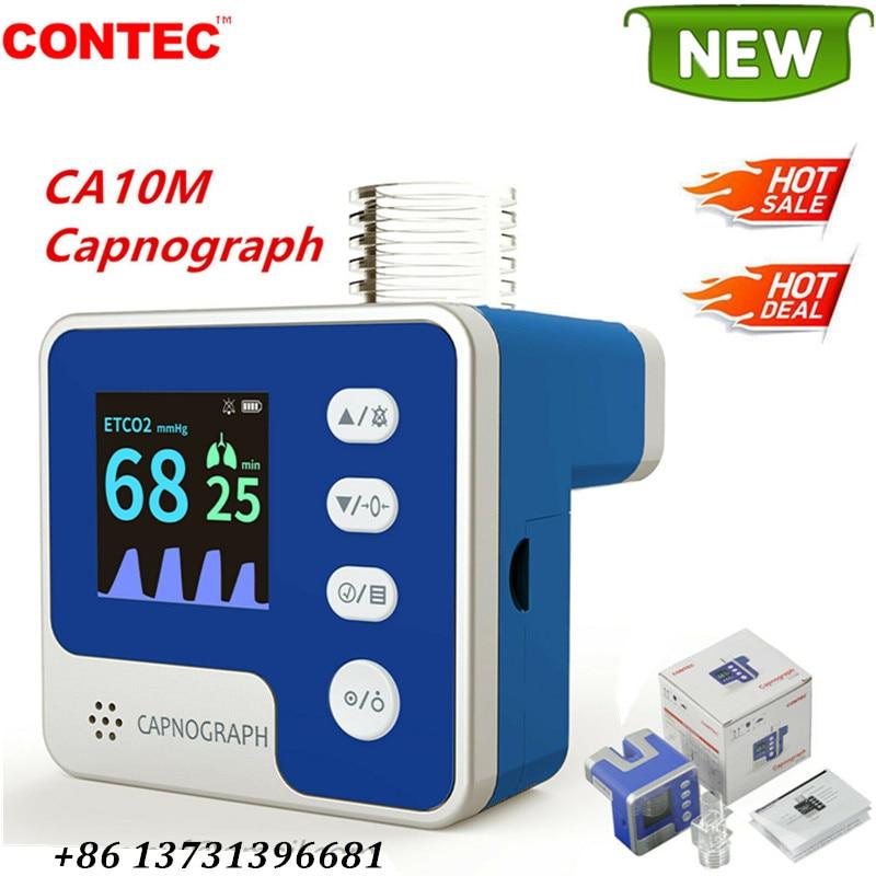 CONTEC CA10M جديد Capnograph نهاية المد والجزر CO2 معدل التنفس ETCO2 اختبار التيار الرئيسي